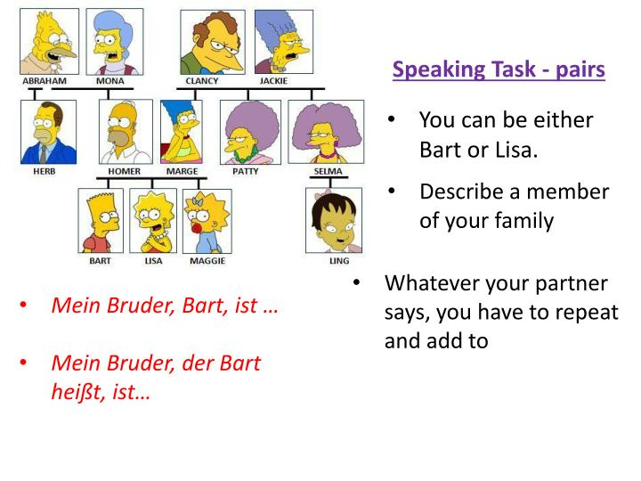 You can be either Bart or Lisa.