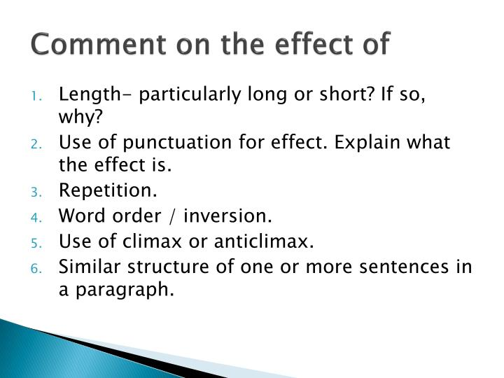 Comment on the effect of