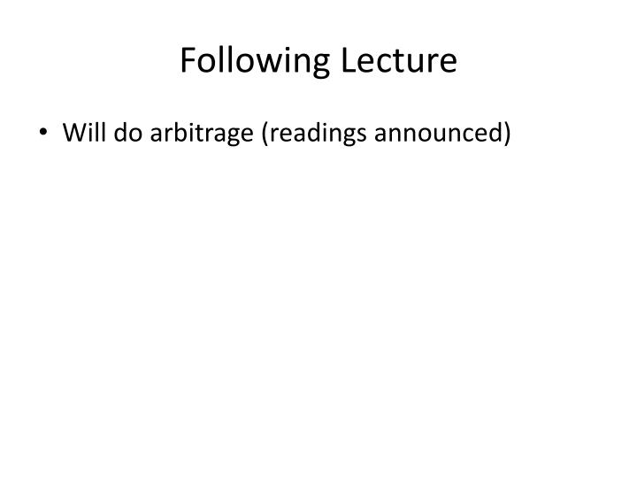 Following Lecture