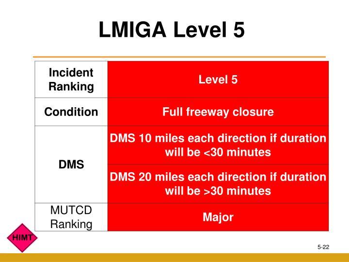 LMIGA Level 5