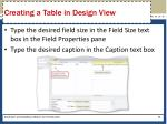 creating a table in design view1