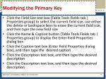 modifying the primary key1