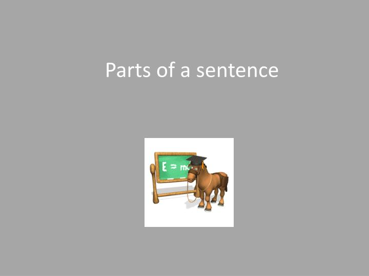 parts of a sentence n.