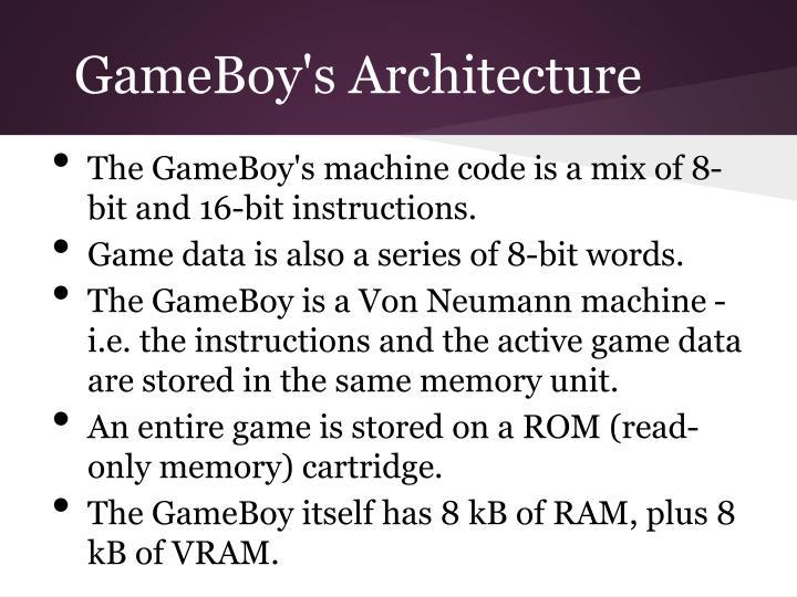 GameBoy's Architecture