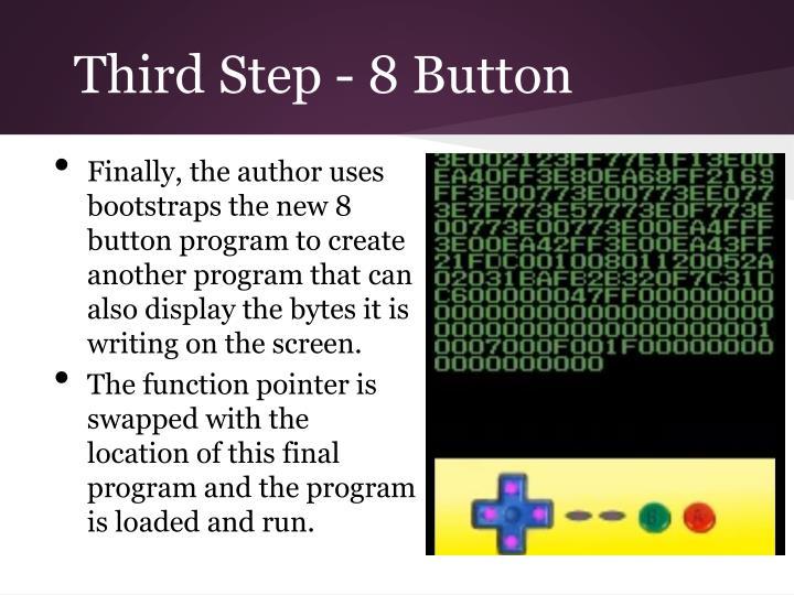 Third Step - 8 Button