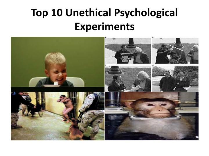 unethical psychological case studies The little albert experiment was a famous psychology experiment conducted by behaviorist john b watson and graduate student rosalie rayner previously, russian physiologist ivan pavlov had conducted experiments demonstrating the conditioning process in dogs.