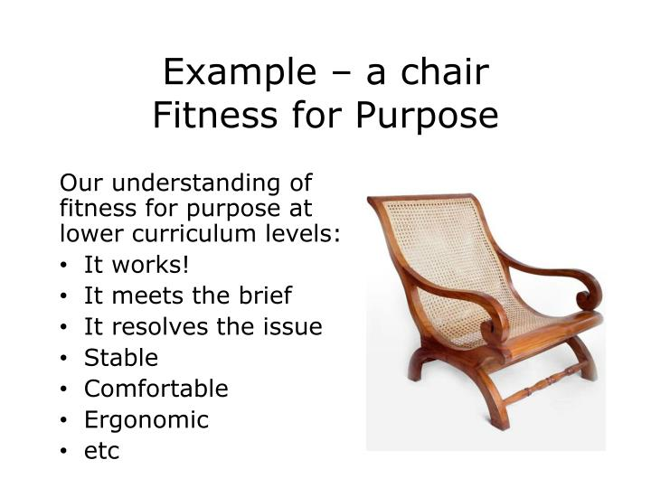 Example – a chair