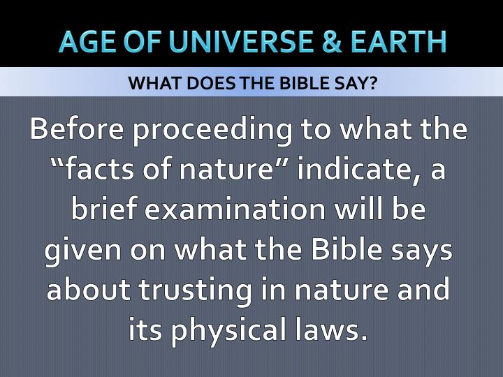 age of universe earth n.
