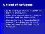 a flood of refugees
