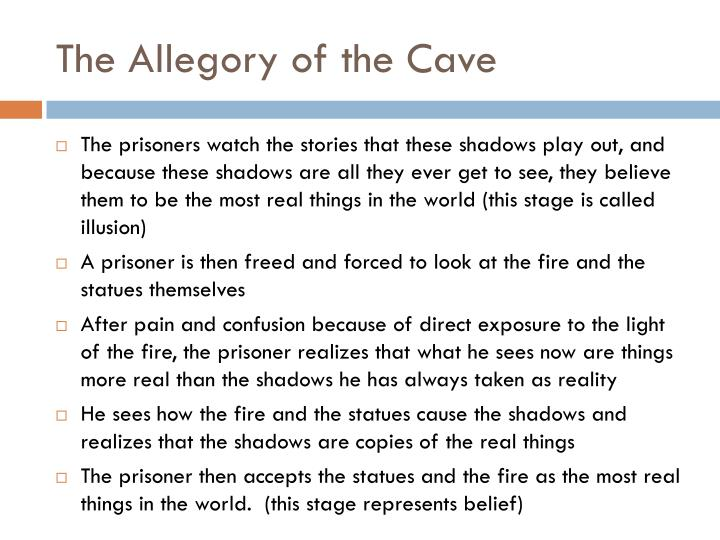 deceiving through fire in the allegory of the cave by plato Among the best-known examples of allegory, plato's allegory of the cave passing in front of a fire behind them and through postmodern.