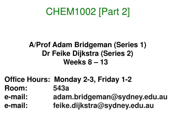 Chem1002 part 2