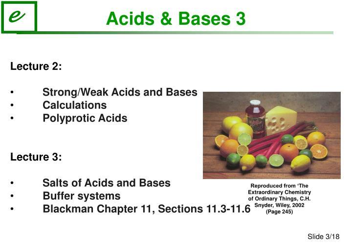 Acids & Bases 3
