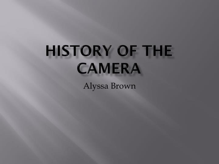 history of the camera n.