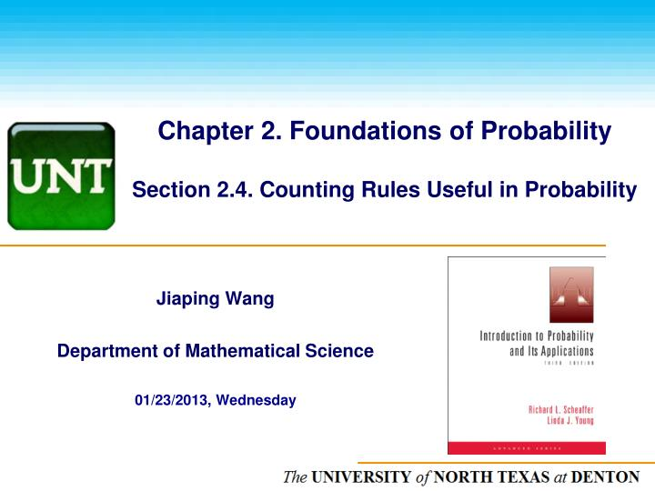 chapter 2 foundations of probability section 2 4 counting rules useful in probability n.