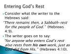 entering god s rest