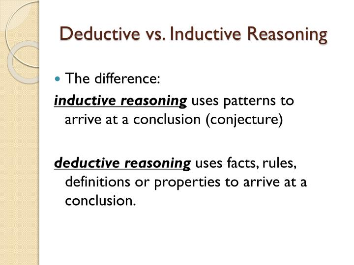 mills inductive reasoning Start studying final exam multiple choice learn vocabulary  in inductive reasoning ( ) mills method of ( ).
