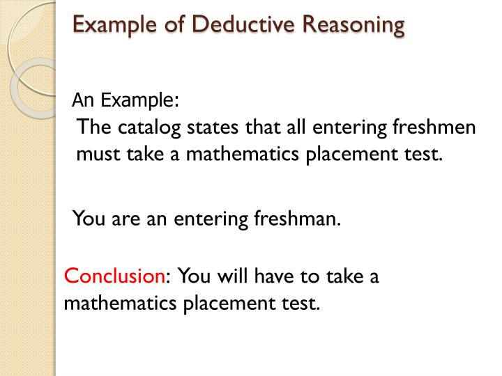 Ppt 21 Deductive And Inductive Reasoning Powerpoint Presentation