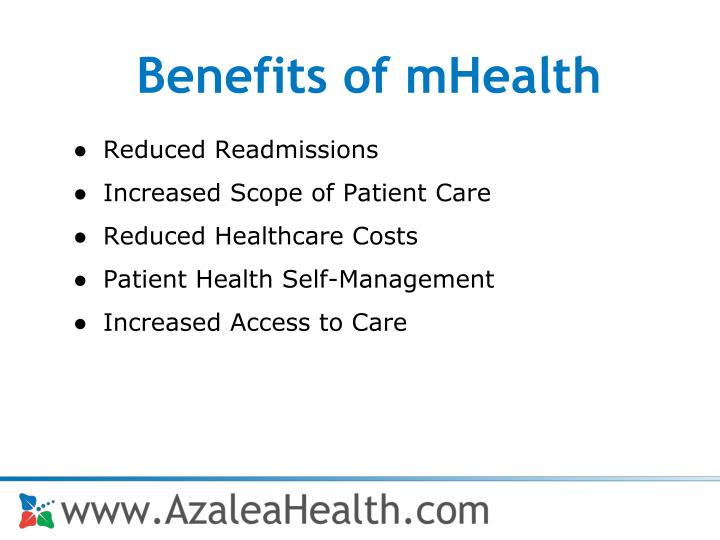 Benefits of mHealth