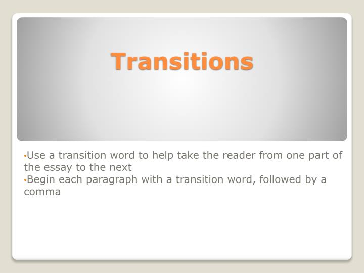 transition words critical lens essay
