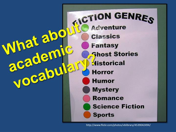What about academic vocabulary?