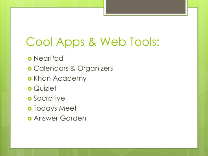 Cool Apps & Web Tools: