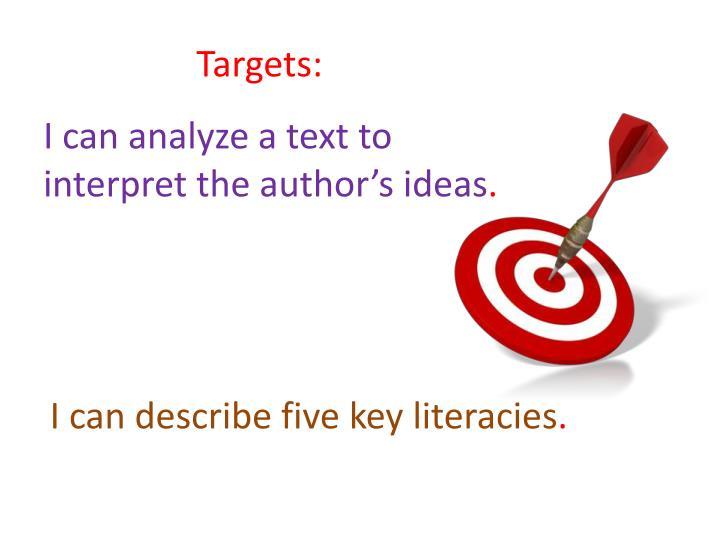 Targets: