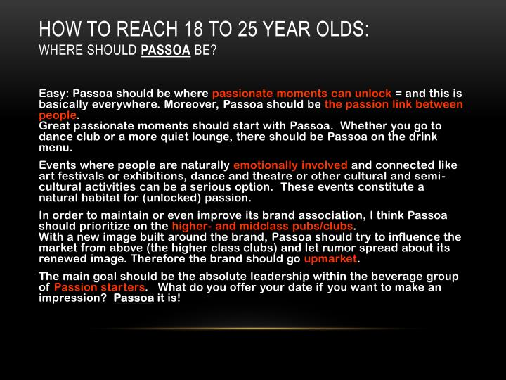 How to reach 18 to 25 year olds: