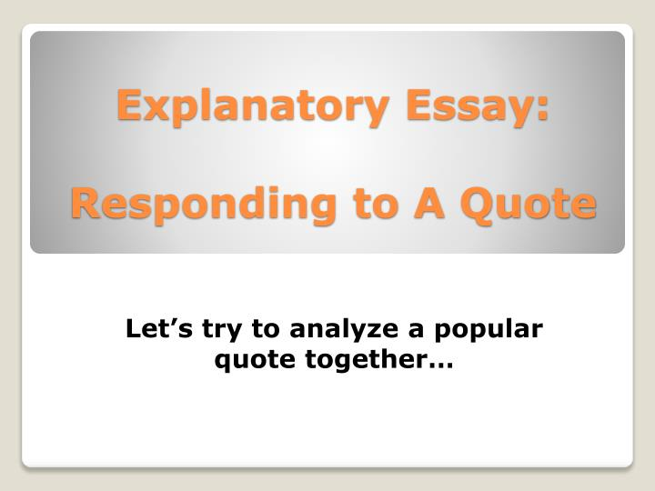 explain the essay In our posts, we will uncover the secrets of writing essays, research papers, term papers and dissertations importance of education in the modern world.