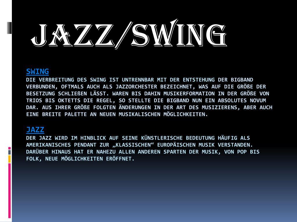 Entstehung Jazz