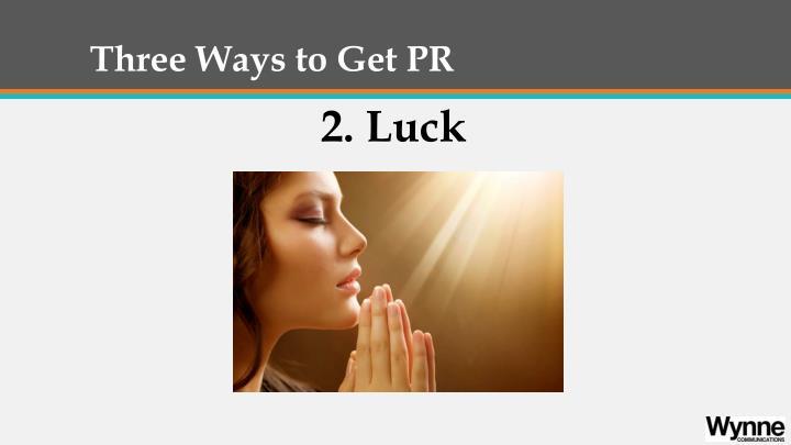 Three ways to get pr1
