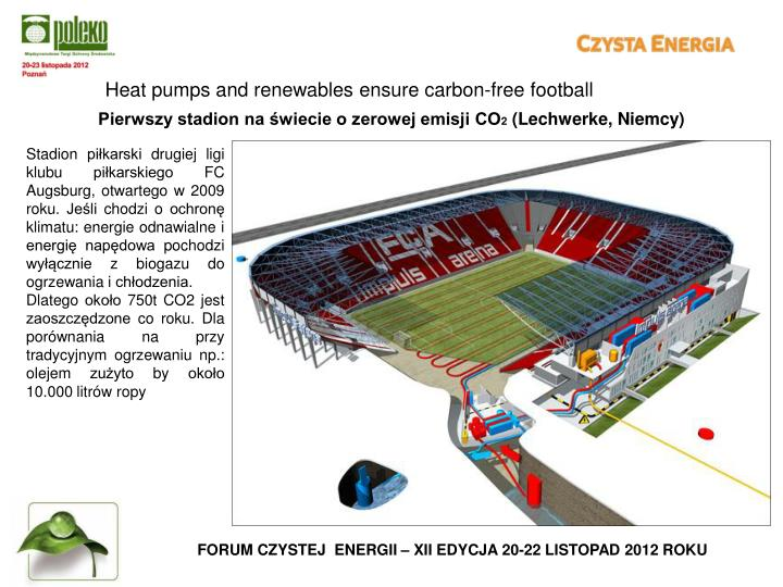 Heat pumps and renewables ensure carbon-free football