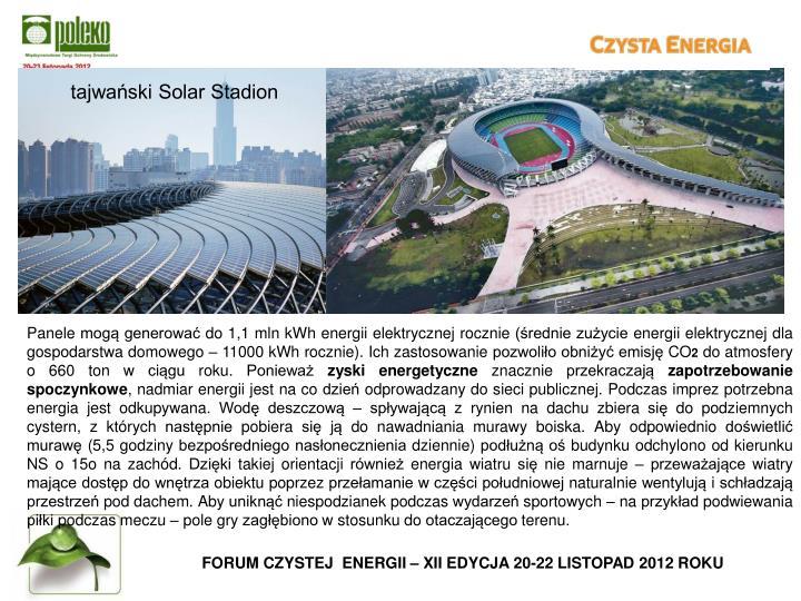 tajwański Solar Stadion