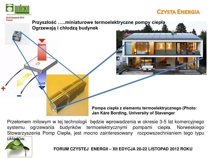 Przyszłość …..miniaturowe termoelektryczne pompy ciepła