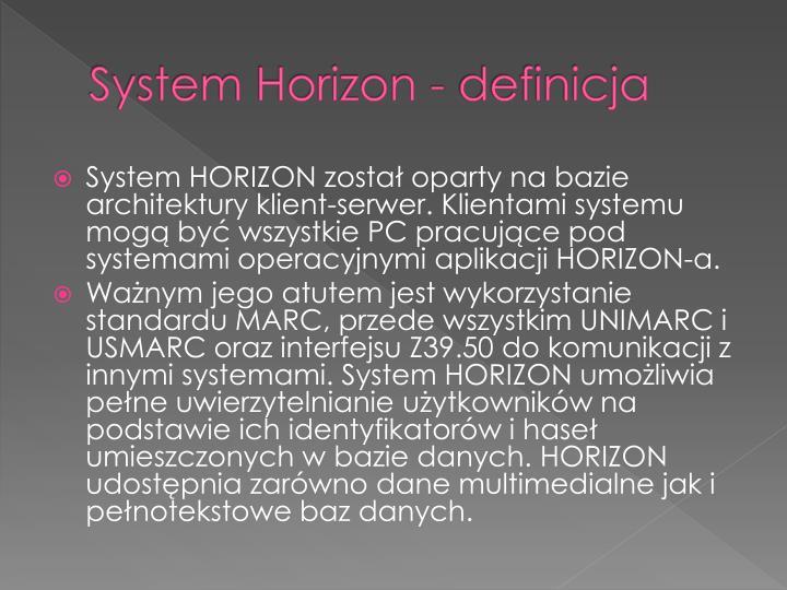 System horizon definicja1