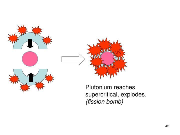 Plutonium reaches