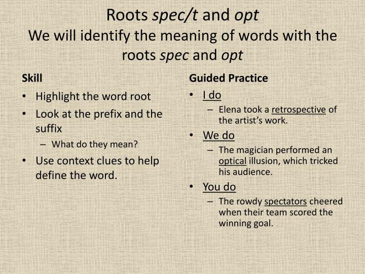 words with spec in it