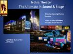 nokia theater the ultimate in sound stage