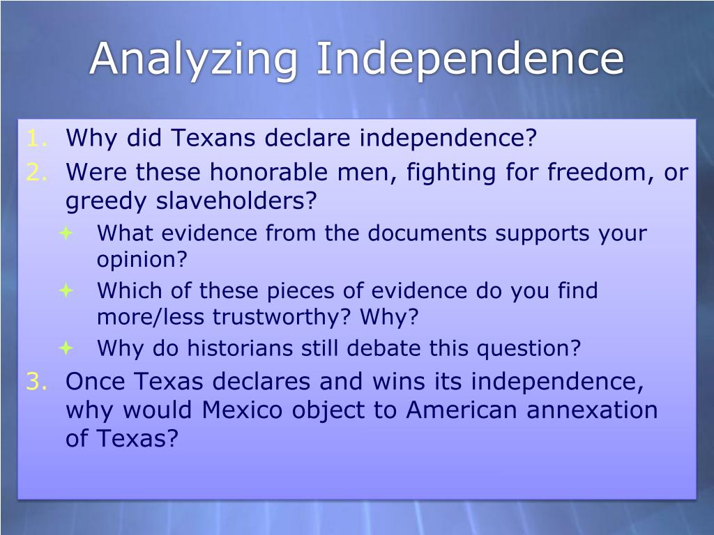 PPT - Texas Independence and the Mexican Revolution ...