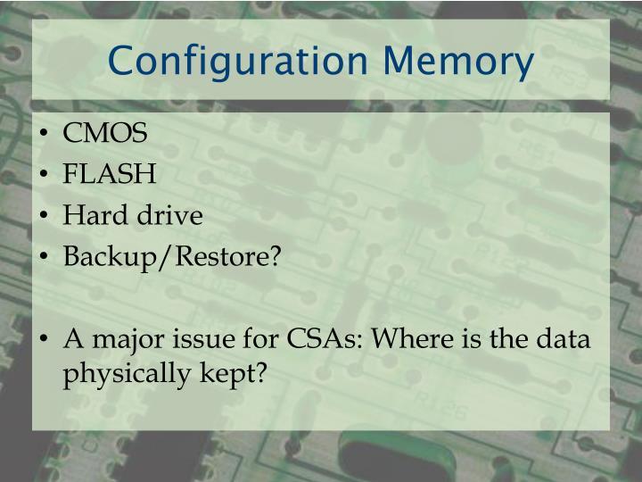 Configuration Memory