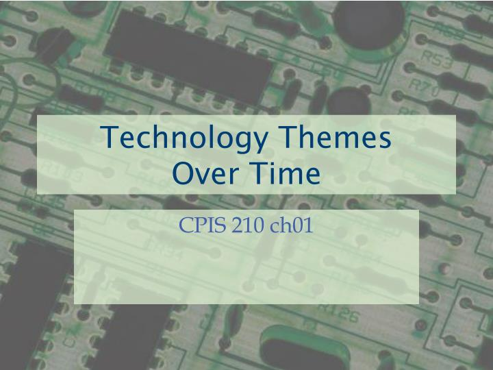 Technology themes over time
