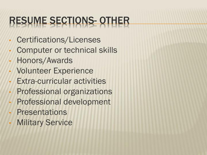 Certifications/Licenses