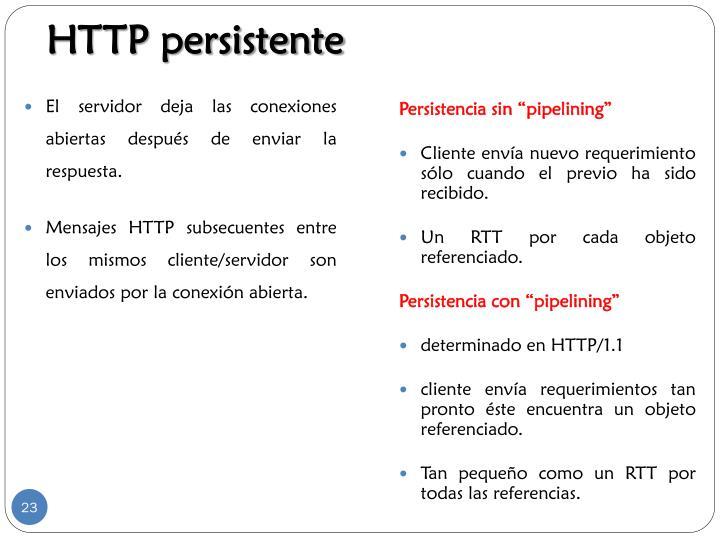 HTTP persistente