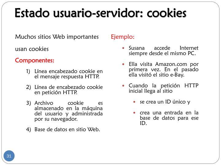 Estado usuario-servidor: cookies
