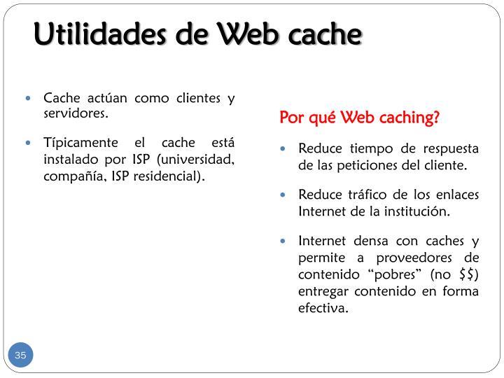 Utilidades de Web cache