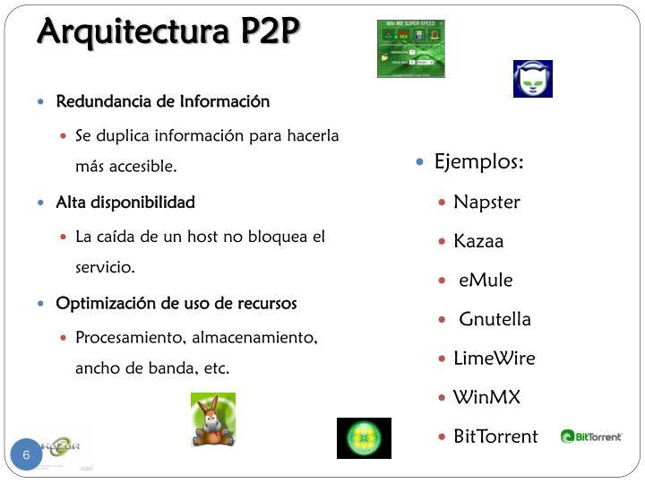 Arquitectura P2P