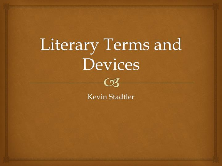 literary terms and devices n.