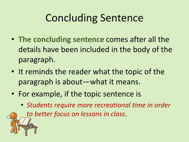 what does a concluding sentence mean
