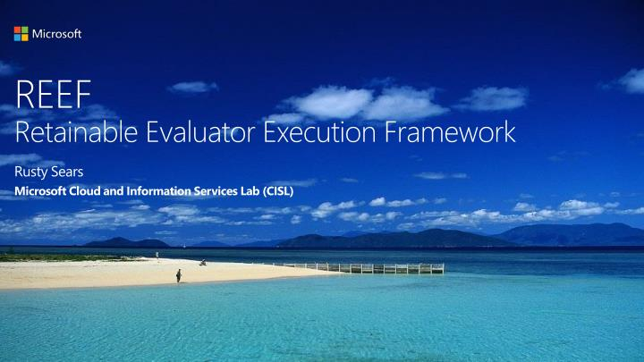 Reef retainable evaluator execution framework