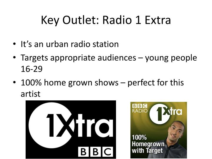 Key Outlet: Radio 1 Extra
