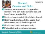 student careers and skills
